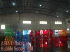 Colorful Bubble Soccer Ball and Balloons Show