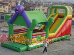 4 w 1 dżungli bounce house slide combo