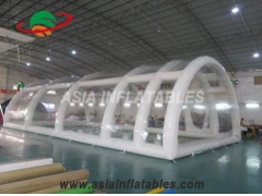 Double Clear Tents
