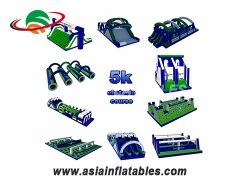 Outdoor Inflatable 5K meters adult obstacles giant inflatable obstacle course Online